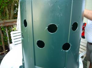 Sump with holes