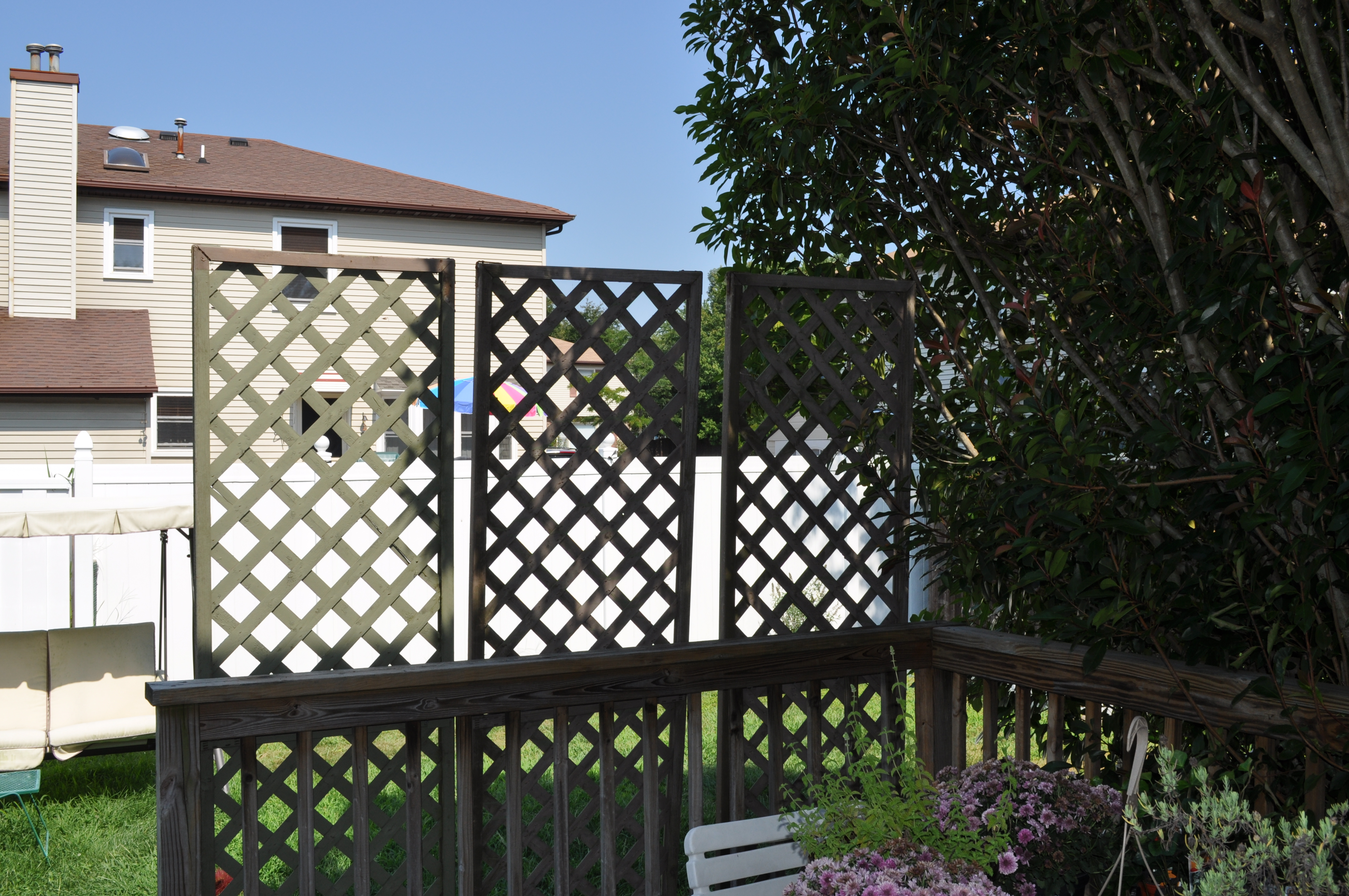 Wood Work Lattice Privacy Screen For Deck PDF Plans